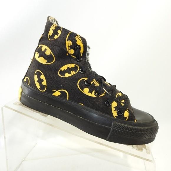 ilmainen toimitus tehdasmyymälät saapuvat Converse Batman Size 2 Black Sneakers Kids Shoes